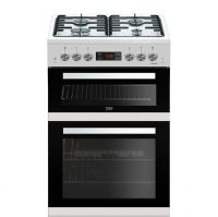 Beko KDG653W 60cm Gas Cooker with Full Width Gas Grill - White - A+/A Rated