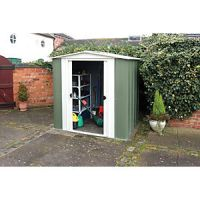 Rowlinson Double Door Metal Apex Shed - Without Floor - 6 x 5 ft
