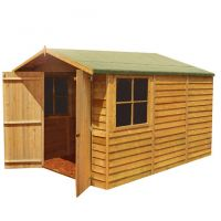 Shire Shire 4' x 6' Overlap Apex Double Door Shed