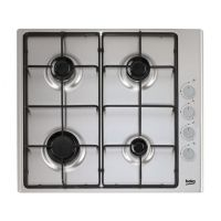 Beko CIHG21SX 60cm 4 Gas Hob Burner in Stainless Steel