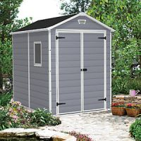 Keter Manor Double Door Plastic Shed Grey - 8 x 6 ft