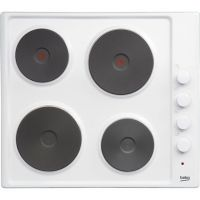 Beko HIZE64101W 58cm Solid Plate Hob - White