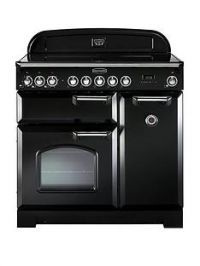 Rangemaster  CDL90EIBL Classic Deluxe 90cm Wide Electric Range Cooker with Induction Hob