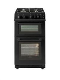 New World 50GTC 50cm Wide Twin Cavity Gas Cooker - Black