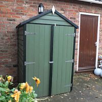 Shire 4 x 3ft Double Door Timber Overlap General Purpose Garden Storage Shed
