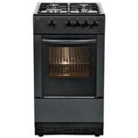 Bush AG56SB 50cm Single Oven Gas Cooker - Black