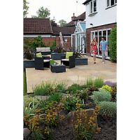 Marshalls Indian Sandstone Riven Buff Mixed Size Paving Patio Pack - 15.23 m2