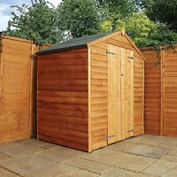 Mercia 4 x 6 ft Double Door Windowless Timber Overlap Apex Shed
