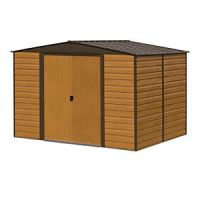 Rowlinson Woodvale Large Double Door Metal Apex Shed without Floor - 10 x 6 ft