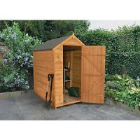 Forest Garden 6 x 4 ft Apex Overlap Dip Treated Windowless Shed