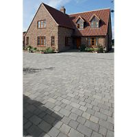 Marshalls Tegula Driveway Block Paving Pack Mixed Size - Pennant Grey 9.73 m2