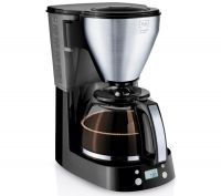 MELITTA Easy Top Timer Filter Coffee Machine - Black & Stainless Steel, Stainless Steel