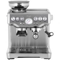 Sage The Barista Express BES875UK Espresso Coffee Machine with Integrated Burr Grinder - Brushed Steel