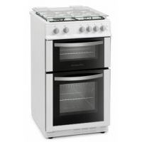 Montpellier MDG500LW 50cm Gas Cooker in White Double Oven FSD