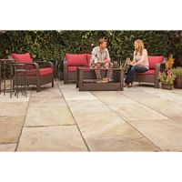 Marshalls Indian Sandstone Textured Brown Multi 275 x 275 x 15-25mm Paving Slab - Pack of 128