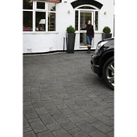 Marshalls Argent Driveway Block Mixed Size Paving Pack - Dark Grey 10.75 m2