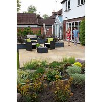 Marshalls Indian Sandstone Textured Buff Multi 275 x 275 x 22mm Paving Slab - Pack of 128