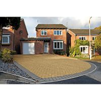 Marshalls Driveway Block Paving - Buff 200 x 100 x 50mm Pack of 488