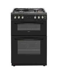 Swan Sx15890B 60Cm Twin Cavity Gas Cooker - Black