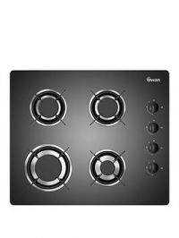 Swan Sxb7040B 60Cm Built-In Gas Glass Hob With Fsd - Black