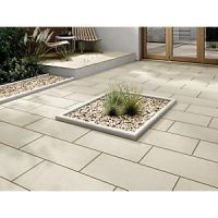 Marshalls Sawn Sandstone Smooth Buff Multi 600 x 300 x 22 mm Paving Slab