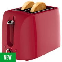 Cookworks 2 Slice Toaster - Red