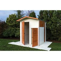 Shire Unique 4 Door Apex Timber Multi Storage Shed - 6 x 6 ft