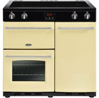Belling Farmhouse90Ei 90cm Electric Range Cooker with Induction Hob - Cream - A/A Rated