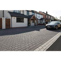 Marshalls Argent Priora Driveway Textured Block Paving Pack Mixed Size - Dark Silver 8.06 m2