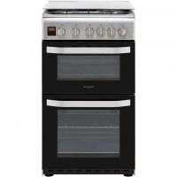 Hotpoint Cloe HD5G00CCX 50cm Gas Cooker with Full Width Gas Grill - Stainless Steel - A Rated