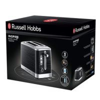 Russell Hobbs 24371 Inspire 2 Slice Toaster in Black High Lift Feature