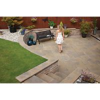Marshalls Heritage Riven Calder Brown 300 x 300 x 38mm Paving Slab - Pack of 44