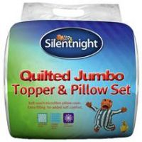 Silentnight Quilted Mattress Topper and Pillow Set - Double