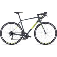 Cube Attain Road Bike 2020 - Grey - Flashyellow - 56cm (22