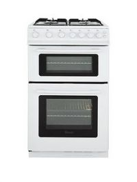Swan SX2071W 50cm Wide Freestanding Twin Cavity Gas Cooker - White