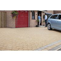 Marshalls Drivesett Argent Textured Block Mixed Size Paving Driveway Pack - Buff 10.75 m2