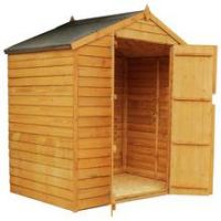 Mercia Windowless Overlap Apex Shed - 4 x 6ft