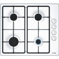 BOSCH PBP6B2B60 Serie 2 58cm Four Burner Gas Hob in White