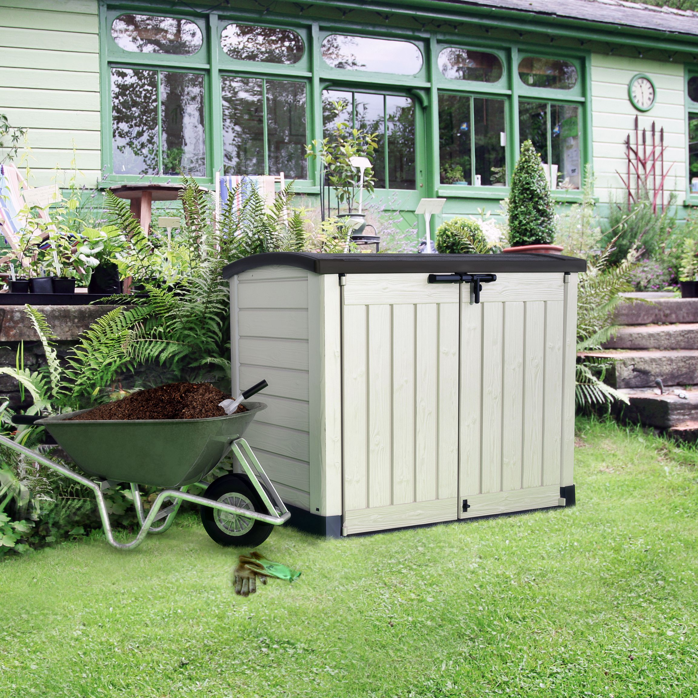 B q sheds wooden metal plastic b and q sheds for Garden and storage sheds