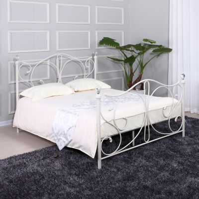 Florence Double Bed White