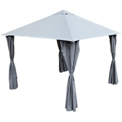 Blooma Grey Steel Gazebo